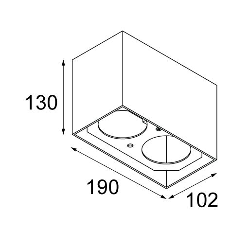Smart surface box 82 2x LED dali GI tekening